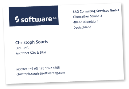Architect SOA & BPM at Software AG Consulting Services GmbH